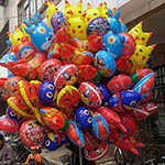 colored helium balloons
